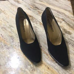 Vintage black YSL heels